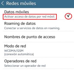 Configurar datos móviles