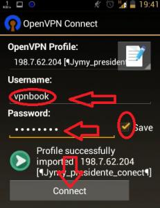 Como configurar el Open vpn