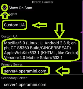 Opera handler user agent android