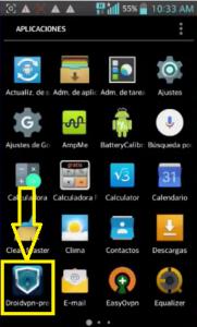 Internet Droid vpn gratis Tuenti Argentina
