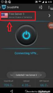 Droid VPN región 9