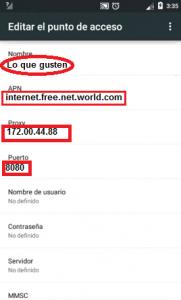 Nuevo APN para Ecuador