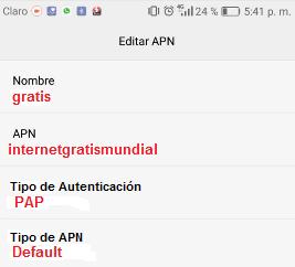 APN full Internet ilimitado