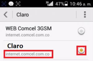 Datos gratis 3G Claro