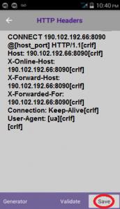 Conexión Tigo Lte con apk DroidVpn