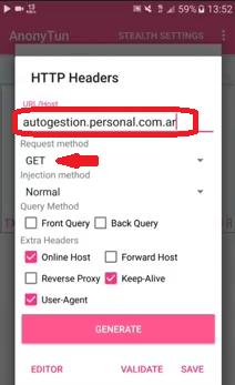 Datos ilimitados free 4G Personal AR con nuevo proxy sin redes