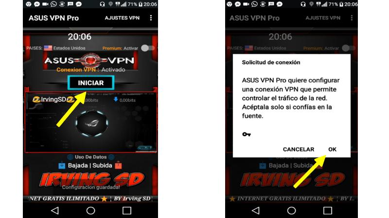 Configurar Asus VPN para tener internet gratis